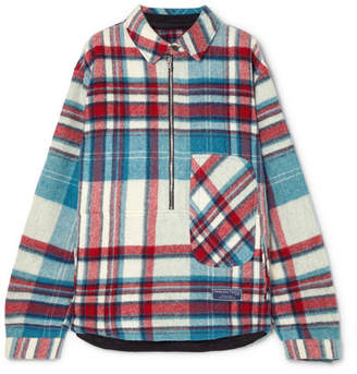 we11done - Checked Wool Shirt - Blue