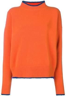 Marni contrast trim crew neck sweater