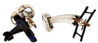 Deakin & Francis Enamel Bi-Plane Cufflinks