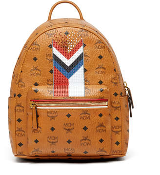 MCM Stark Backpack In Chevron Stripe Visetos
