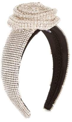Dolce & Gabbana Crystal Embellished Silk Headband - Womens - Crystal