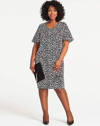 5d3760afd8d Capsule Leopard Print Ruffle Sleeve V Neck Dress
