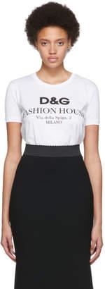 Dolce & Gabbana White Fashion House T-Shirt