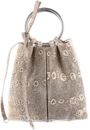 Sergio RossiSergio Rossi Ring Lizard Handle Bag