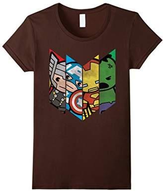 Marvel The Avengers Kawaii Chevron Graphic T-Shirt