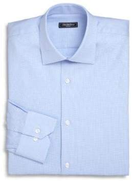 Saks Fifth Avenue Trim-Fit Micro Houndstooth Dress Shirt