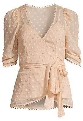 Alice McCall Women's Moon Talking Silk-Blend Wrap Blouse - Size 0