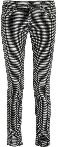 Rag and Bone Rag & bone Pantalon en velours côtelé pied-de-poule The Skinny