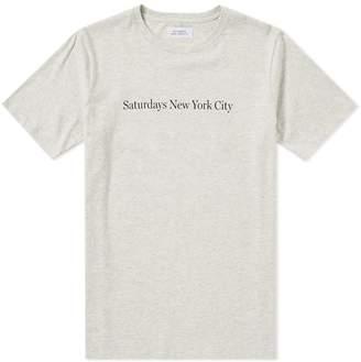 Saturdays NYC Logo Tee