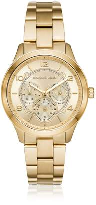 Michael Kors Runway Gold Tone Multi-function Watch