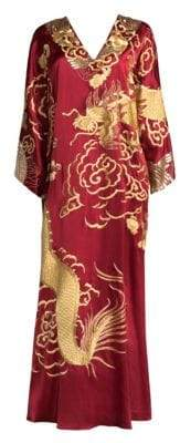 Natori Dragon Silk Caftan
