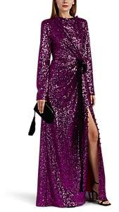 Prabal Gurung Women's Sequined Draped Gown - Raspberry