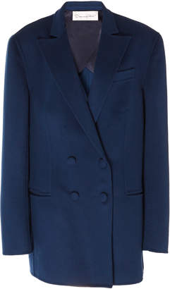 Oscar de la Renta Oversized Wool And Cashmere Double-Breasted Blazer