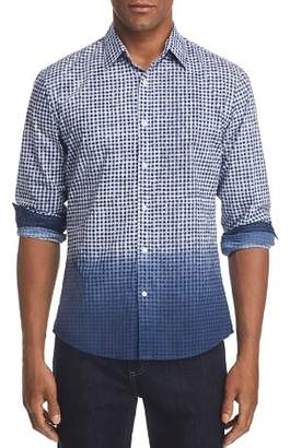 Michael Kors Slim Fit Dip-Dye Gingham Button-Down Shirt