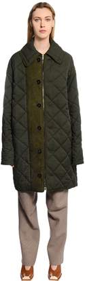Stella McCartney Oversized Quilted Canvas Coat
