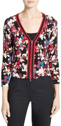 Women's Tracy Reese Floral Print Cotton Cardigan $228 thestylecure.com
