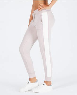 Calvin Klein Velour-Stripe Fleece Pants