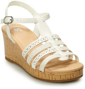 So SO Sunscreen Girls' Platform Wedge Sandals