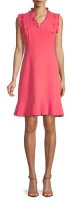 Karl Lagerfeld Paris Ruffle Sleeveless A-Line Dress