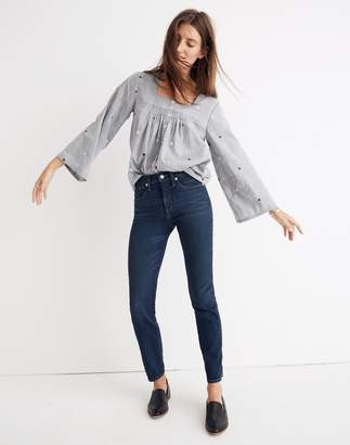 Madewell Rivet & Thread Slim Straight Jeans in Richardson Wash