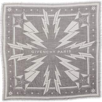 Givenchy Iconic Flash Jacquard Silk & Wool Shawl