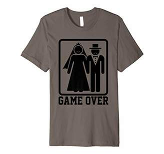 Game Over Shirt Funny Wedding Bride Groom Gamer Tees