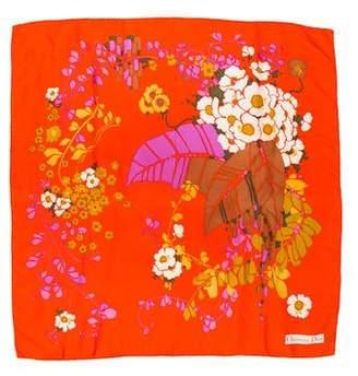 Christian Dior Floral Silk Scarf
