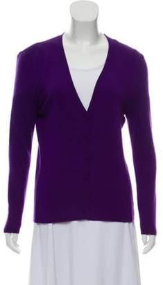 Michael Kors Cashmere Knit Cardigan Purple Cashmere Knit Cardigan