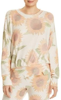 LnA Duncan Brushed Sunflower Print Sweatshirt