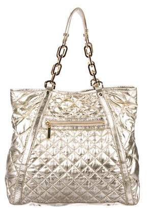 Tory Burch Metallic Quilted Alice Tote