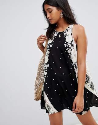 Free People Darjeeling printed swing dress