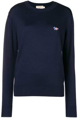 MAISON KITSUNÉ logo long-sleeve sweater