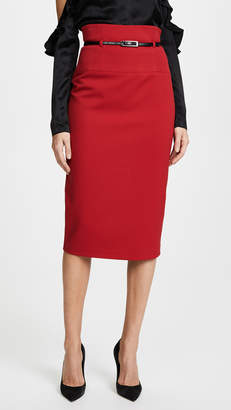 Black Halo High Waisted Pencil Skirt