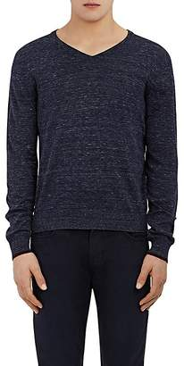 Barneys New York MEN'S COTTON V-NECK SWEATER