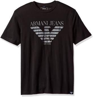Armani Jeans Men's Plus Size Pima Cotton Eagle Logo T-Shirt
