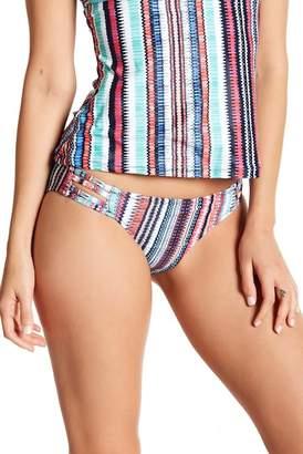 Jessica Simpson Side Cutout Print Bikini Bottoms