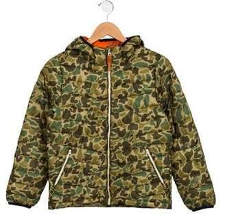 Scotch & Soda Boys' Camouflage Hooded Coat