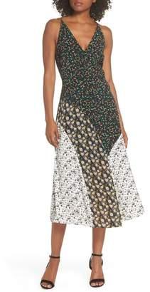Sam Edelman Mixed Floral Print Midi Dress