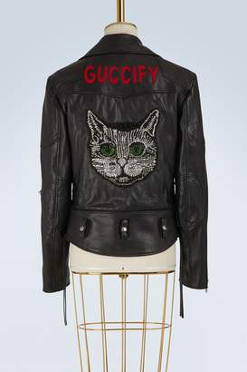 Gucci Guccify leather jacket