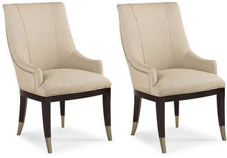Caracole Set of 2 A La Carte Armchairs - Cream Linen