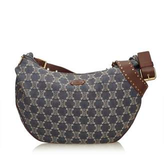 Celine Vintage Macadam Denim Shoulder Bag