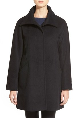 Women's Ellen Tracy Convertible Collar Kimono Sleeve Coat $300 thestylecure.com