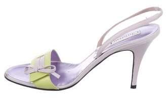 Christian Lacroix Leather Slingback Sandals