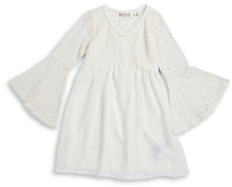 Poppies And Roses Girls 7-16 Bell Sleeve Lace Top $58 thestylecure.com