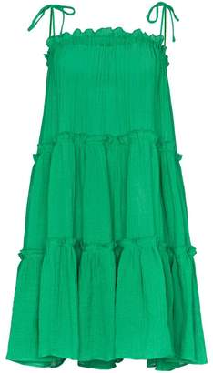 Lisa Marie Fernandez ruffle tiered peasant dress