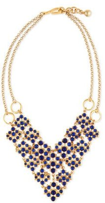Lulu Frost Energy Crystal Cabochon Bib Necklace, Blue $350 thestylecure.com