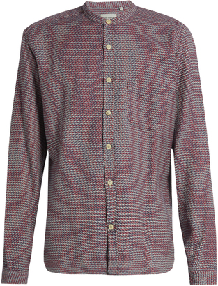 OLIVER SPENCER Granddad-collar cotton shirt $134 thestylecure.com