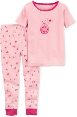 Carter's Little Planet Organics 2-Pc. Ladybug Cotton Pajama Set, Baby Girls