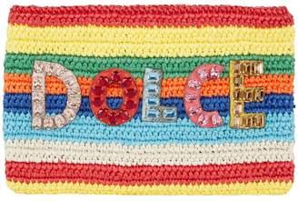 Dolce & Gabbana Raffia Rainbow Clutch