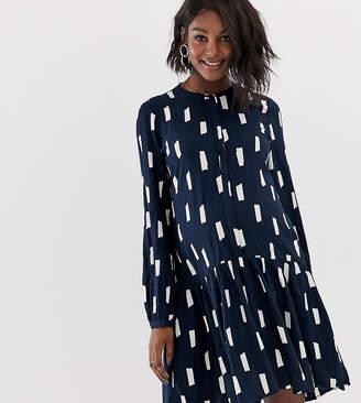 Mama Licious Mama.Licious Mamalicious maternity printed frill hem dress